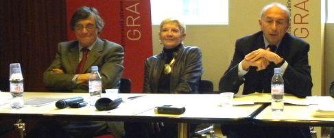 Olivier Brachet , vice président du Grand Lyon en charge de l'habitat, Martine David, vice présidente en charge du PLU, et Gérard Collomb, président du Grand Lyon (Sylvain D'Huissel / Lyon Pôle Immo)