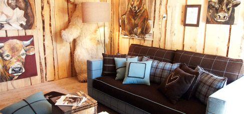 alpes home un salon d di la d coration de montagne. Black Bedroom Furniture Sets. Home Design Ideas