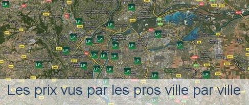 cartes des prix de l'immobilier à Lyon