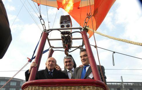 Gérard Collomb, Michel Chenevat, et Marc Bertrand (SDH/LPI)