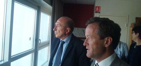 Gérard Collomb et Thomas Rudigoz (SDH/LPI)