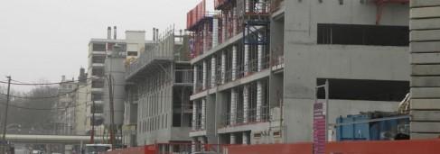 immeuble en construction à Lyon