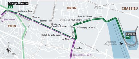 La ligne de tramway t5 grange blanche eurexpo entre en - La ligne noire jean christophe grange ...