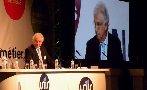 Jacques Pédrini, président de l'UNIS Rhône Alpes, aux 7èmes journées des conseils Syndicaux (SDH/Lyon Pôle Immo).
